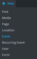 Screenshot - events from top bar