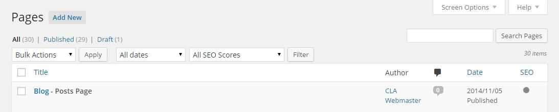 Screenshot to adding new post in WordPress